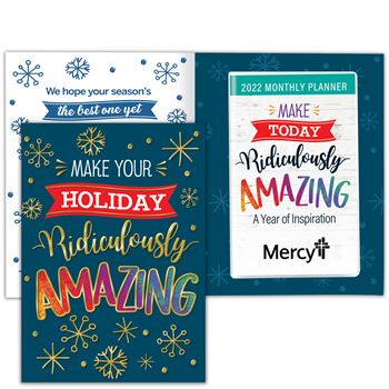 Make Your Holiday Ridiculously Amazing Greeting Card With 2022 Amazing Monthly Planner - Personalization Available