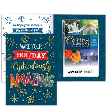Make Your Holiday Ridiculously Amazing Greeting Card With 2022 Caring Monthly Planner - Personalization Available