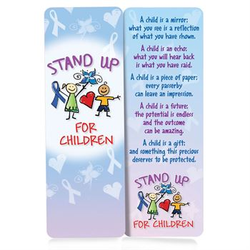 Stand Up For Children Deluxe Bookmark - Personalization Available
