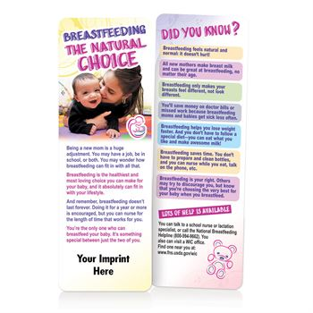 Breastfeeding Bookmark For Teen Mothers - Personalization Available