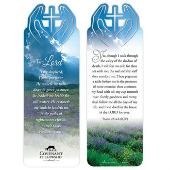 Psalm 23:1-3 and Psalm 23:4-6 Deluxe Die-Cut Bookmark - Personalization Available