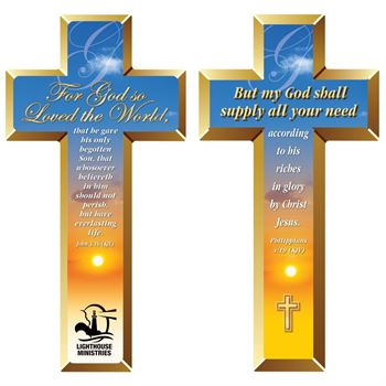 John 3:16 and Philippians 4:19 Deluxe Die-Cut Bookmark - Personalization Available