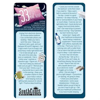 33 Ways To Get More Sleep Die-Cut Bookmark - Personalization Available