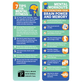 7 Tips For Mental Fitness Bookmark - Personalization Available
