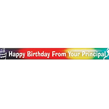 Happy Birthday From Your Principal Rainbow Sparkle Foil Pencil