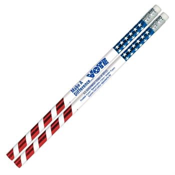 Make A Difference... Vote Sparkle Foil Pencil