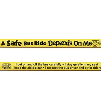 A Safe Bus Ride Depends On Me Pencil (Yellow)