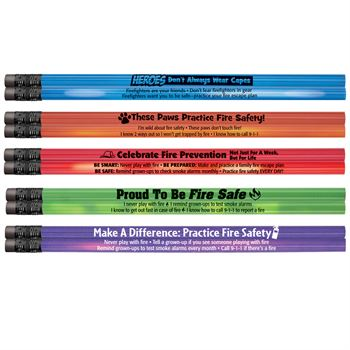 Heat-Sensitive Pencil Assortment Pack With Fire Safety Tips #1 - 100 Per Pack
