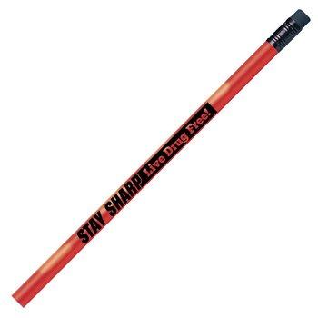 Stay Sharp: Live Drug Free! Heat-Sensitive Pencils - Pack of 100
