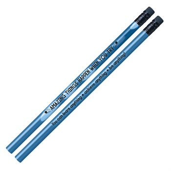 Amazing Things Happen When You Try Growth Mindset Pencils - Pack of 25