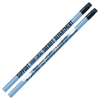 Support Your Local Sheriff Department Heat-Sensitive Pencil