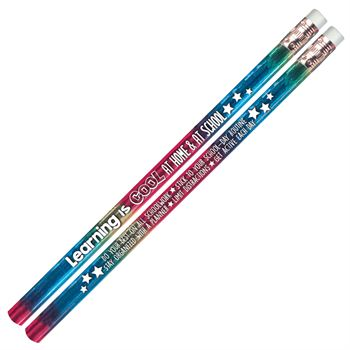 Learning Is Cool At Home & At School Sparkle Foil Pencil - 25 Pencils Per Pack