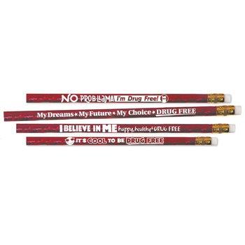 Drug-Free Sparkle Foil Pencil Assortment - Pack of 100