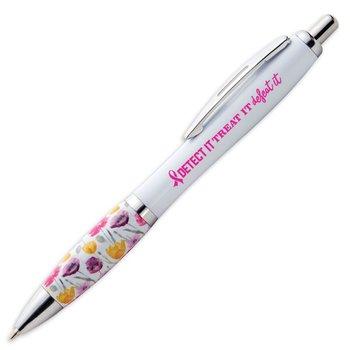 Detect It, Treat It, Defeat It Floral Grip Awareness Pen