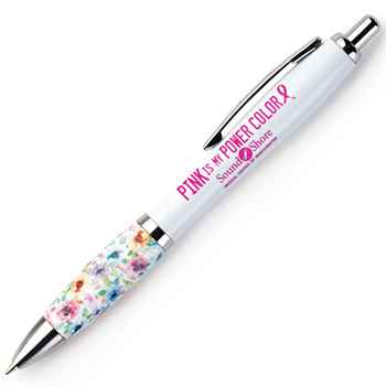 Pink My Power Color Floral Grip Awareness Pen Plus Personalization