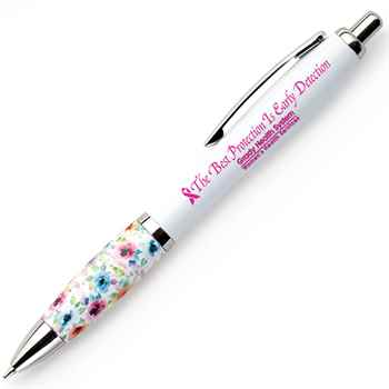 The Best Protection Is The Early Detection Floral Grip Awareness Pen Plus Personalization