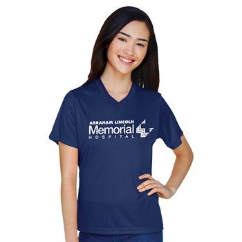 Team 365™ Women's Zone Performance Wicking Short-Sleeve T-Shirt - Silkscreened Personalization Available