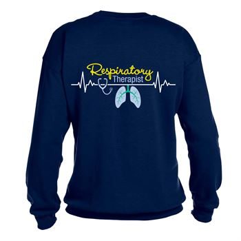 Respiratory Therapist Heartbeat Lungs  2 Sided Sweatshirt - Personalization Available