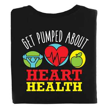 Get Pumped About Heart Health 2-Sided Short Sleeve T-Shirt - Personalized