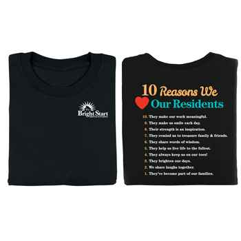 10 Reasons We Love Our Residents 2-Sided T-Shirt - Personalized