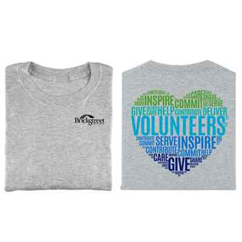 Volunteers Word Cloud Positive 2-Sided T-Shirt - Personalization Available