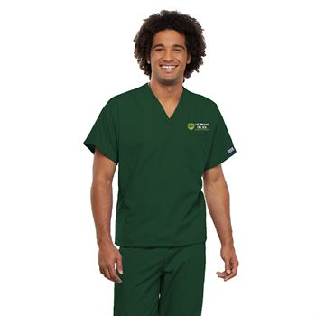 Cherokee® Unisex V-Neck One-Pocket Scrubs Top - Personalization Available