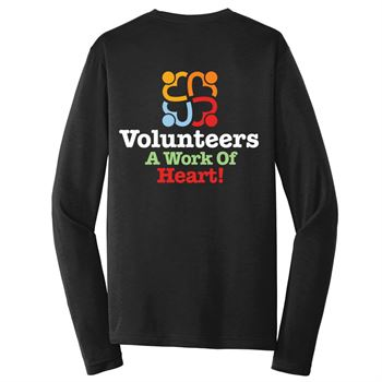 Volunteers: A Work Of Heart Long-Sleeve 2-Sided T-Shirt - Personalization Available