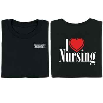 I (Heart) Nursing 2-Sided T-Shirt - Personalization Available