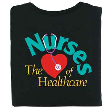 Nurses The Heart Of Healthcare 2-Sided T-Shirt