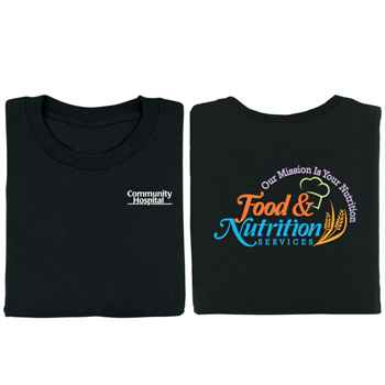 Food & Nutrition: Our Mission Is Your Nutrition 2-Sided T-Shirt - Personalized