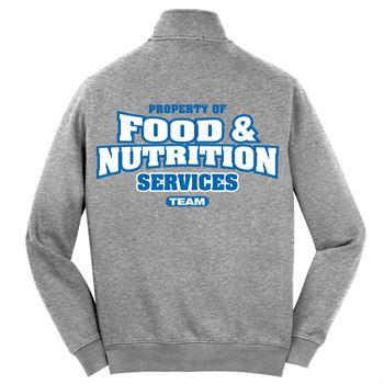 Property Of Food & Nutrition Services Team 2-Sided Full-Zip Jacket - Personalized