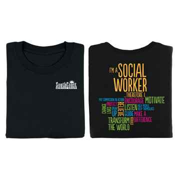 I'm A Social Worker Positive Two-Sided T-Shirt - Personalized