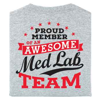 Medical Laboratory Professionals: We Are The Science Behind The Medicine 2-Sided T-Shirt - Personalized