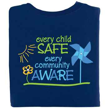 Every Child Safe, Every Community Aware 2-SIded T-Shirt - Personalization Available