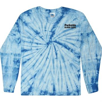 Tie-Dye Cotton Spider Youth Long-Sleeve T-Shirt - Personalization Available