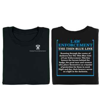 Law Enforcement: The Thin Blue Line Short-Sleeve 2-Sided T-Shirt - Personalized