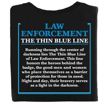The Thin Blue Line Short-Sleeve T-Shirt - Personalization Available