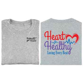 Heart Healthy Loving Every Beat 2-Sided Short Sleeve T-Shirt - Personalized