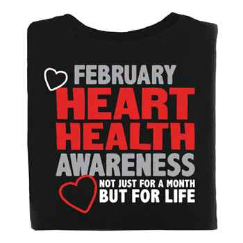 Heart Health Awareness: Not Just For A Month But For Life 2-Sided Short Sleeve T-Shirt - Personalized