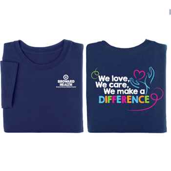 We Love, We Care, We Make A Difference 2-Sided Short-Sleeve T-Shirt - Personalized