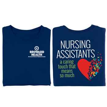 Nursing Assistants: A Caring Touch That Means So Much 2-Sided T-Shirt - Personalization Available
