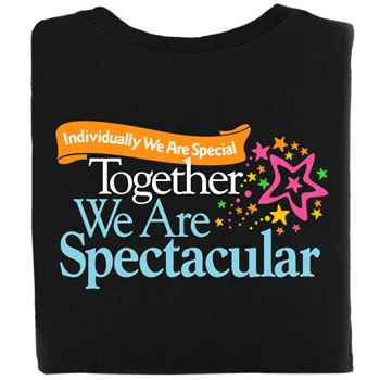 Individually We Are Special Together We Are Spectacular 2-Sided T-Shirt - Personalized
