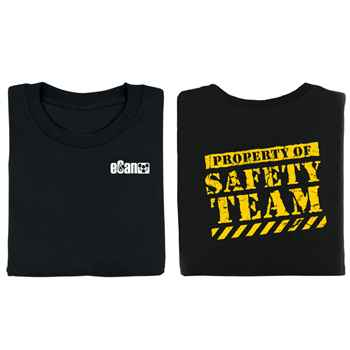 Property Of Safety Team Two-Sided T-Shirt with Personalization
