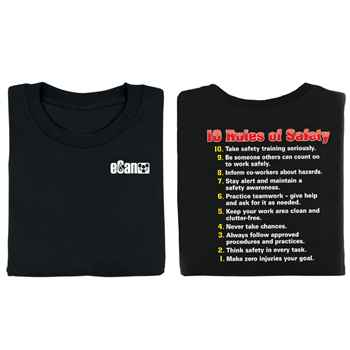 10 Rules Of Safety Two-Sided T-Shirt with Personalization