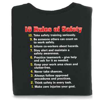 10 Rules Of Safety T-Shirt