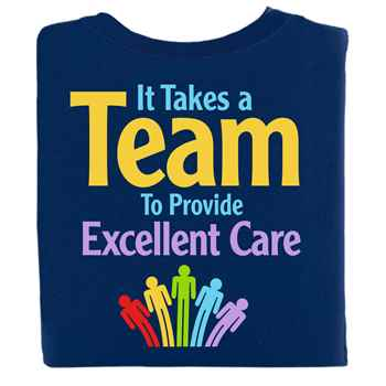 It Takes A Team To Provide Excellent Care Two-Sided Short-Sleeve T-Shirt - Personalized