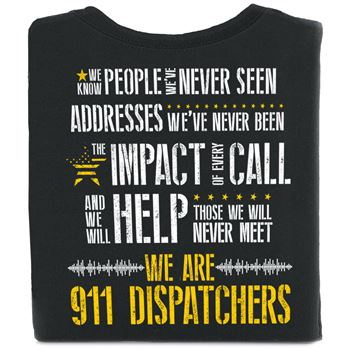 We Are 911 Dispatchers Short-Sleeve 2-Sided T-Shirt With Personalization