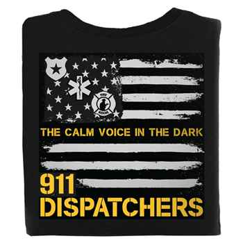 911 Dispatchers: The Calm Voice In The Dark Short-Sleeve 2-Sided T-Shirt With Personalization