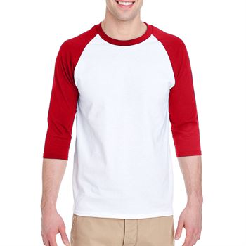 Gildan® Adult 5.3-oz. 3/4-Sleeve Raglan T-Shirt - Personalization Available