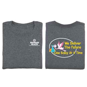 We Deliver The Future One Baby At A Time Two-Sided Short-Sleeve T-Shirt - Personalized